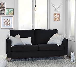 Elle Decor Porter Sofa - Black