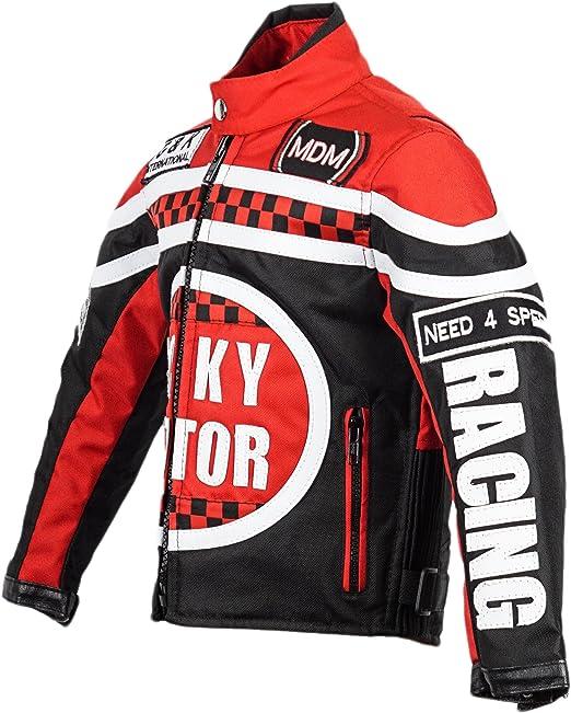 Mdm Racing Jacke Für Kinder In Rot Motorradjacke Textil Jacke Bekleidung
