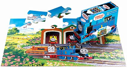 4f817c4b45a Amazon.com: Thomas & Friends: Off to Work - 24 Piece Floor Puzzle in ...