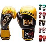 Boxing Gloves Training Sparring Fight Punch Bag Mitts Kickboxing MMA RingMaster UK