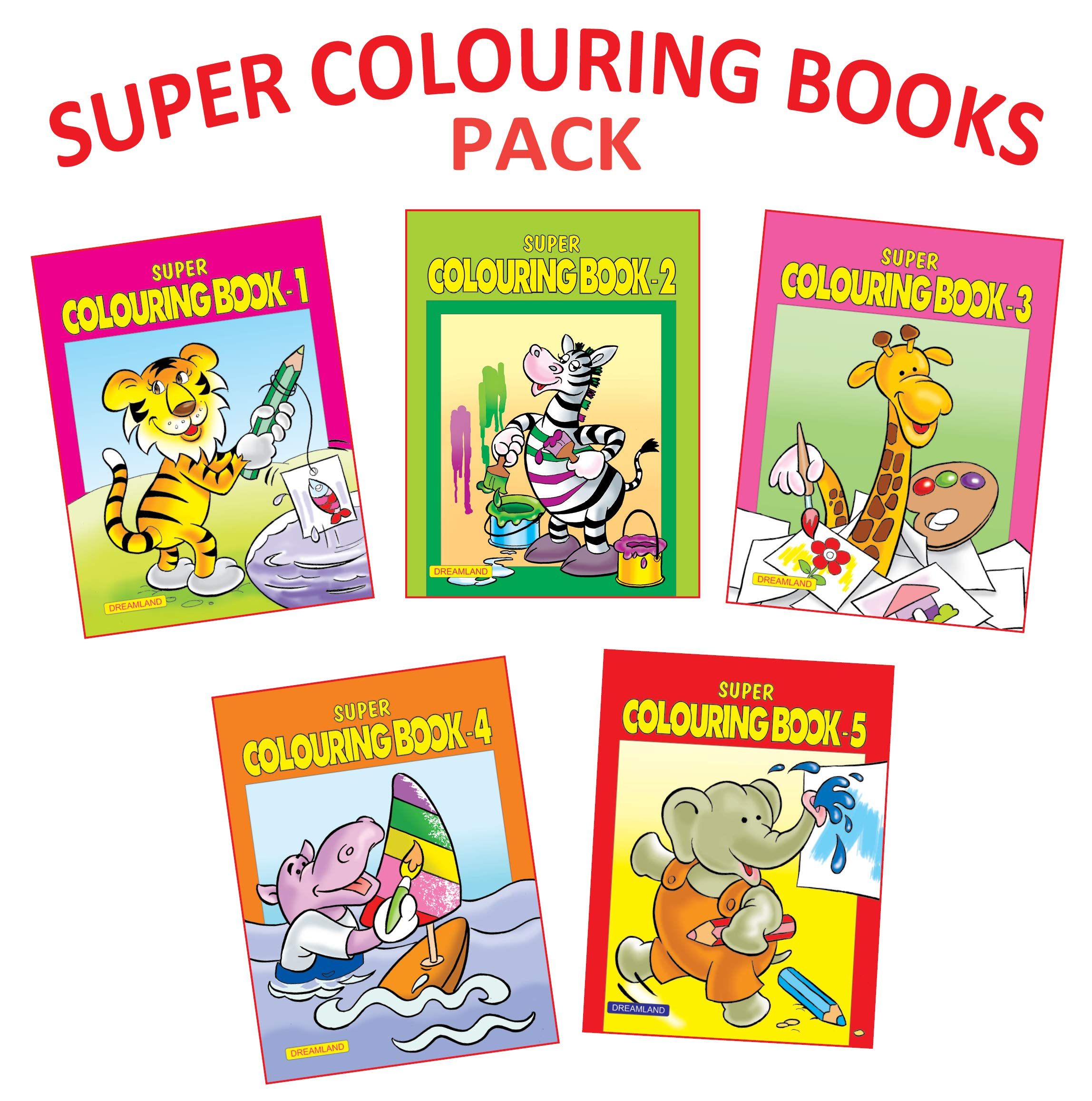 [Apply coupon] Super Colouring book (Set of 5 Books) Paperback – 1 January 2019