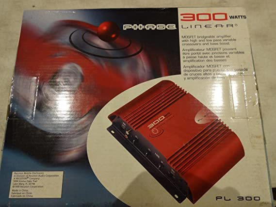 Amazon.com: Phase Linear PL 300 Watt Amplifier: Car Electronics