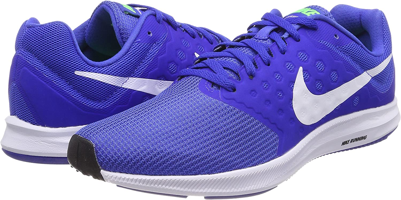 Nike Zapatillas DE Running Downshifter 7 Mega White Green Strike R, Deporte Unisex Adulto, Azul (Blue), 45.5 EU: Amazon.es: Zapatos y complementos