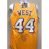 $299 » Jerry West Los Angeles Lakers Signed Autograph Rare Multi INSCRIBED Custom Jersey JSA Certified