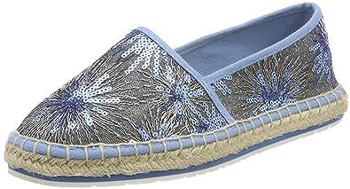 24220, Espadrilles Femme, Bleu (Azure Comb), 39 EUMarco Tozzi
