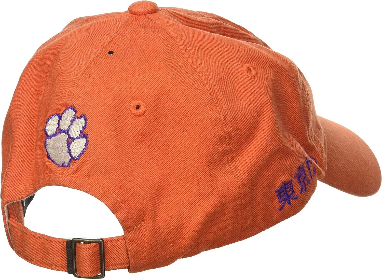 Orange Zephyr NCAA Clemson Tigers Mens Shibuya Relaxed Hat Adjustable