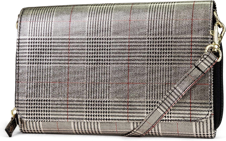 Mundi RFID Crossbody Bag For Women Anti Theft Travel Purse Handbag Wallet Vegan Leather