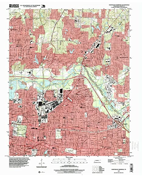 Amazon.com : YellowMaps Northeast Memphis TN topo map, 1:24000 Scale on map of north puerto rico, map of north alabama, map of south tenn, map of southwest tenn, map of north florida,