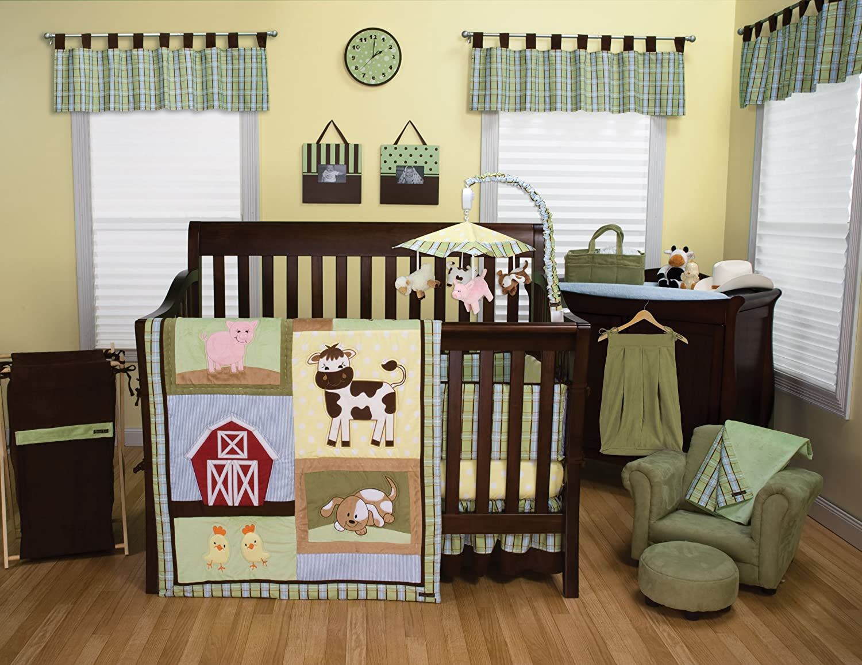 Amazon trend lab baby barnyard 3 piece crib bedding set amazon trend lab baby barnyard 3 piece crib bedding set farm bedding for baby boys baby sciox Image collections