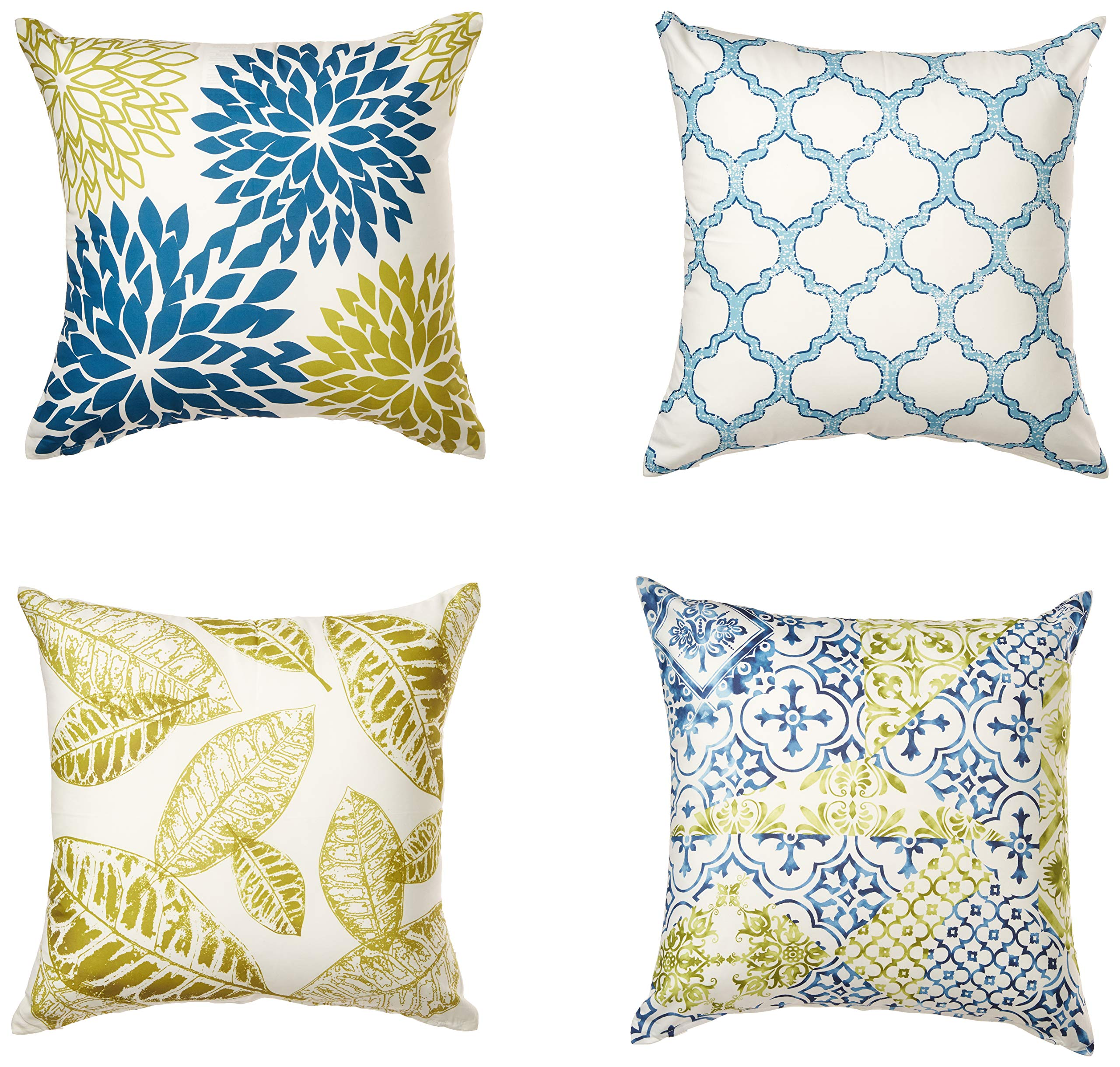 Bags-Online White Stars Decorative in Deep Blue Pillowcase Cushion Cover for Sofa Living Room Almohadillas Decoración del hogar
