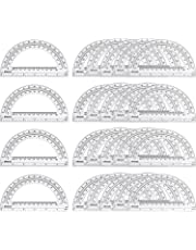24 Pack Plastic Protractors Math Protractor 180 Degrees (6 Inch, Clear)