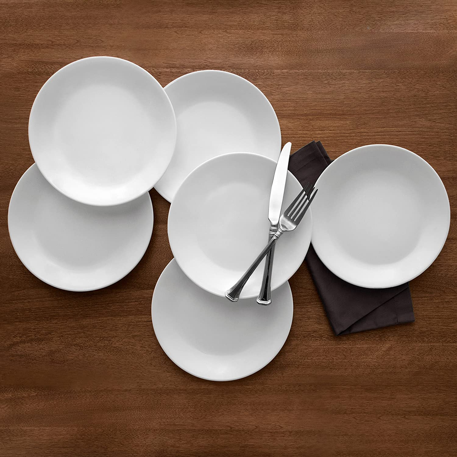 Amazon.com: Corelle Winter Frost 6-Pack Lunch Plates, White 8.5 ...
