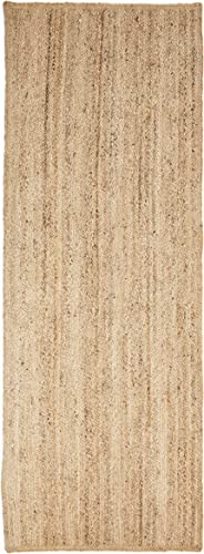 Superior Hand Woven Natural Fiber Reversible High Traffic Resistant Braided Jute Area Rug