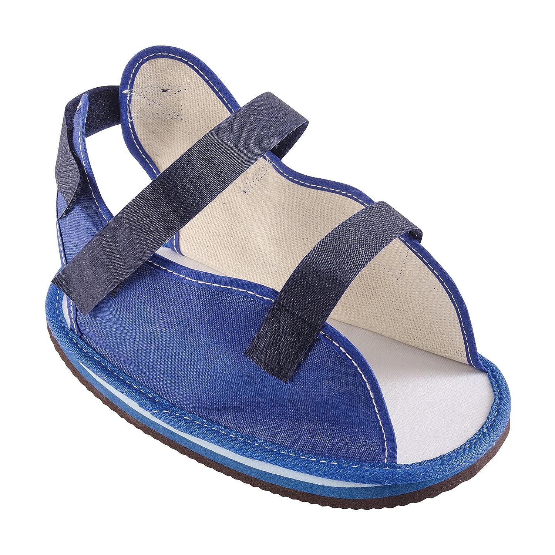 DMI Canvas Rocker Bottom Cast Shoe Post-Op Shoe, Small, Blue