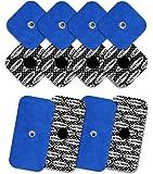 TENSPAD SILVER 12 electrodos con patrón de Plata para Compex (8 electrodos 50x50mm con 1 Snap y 4 electrodos 50x100mm con 1 Snap)