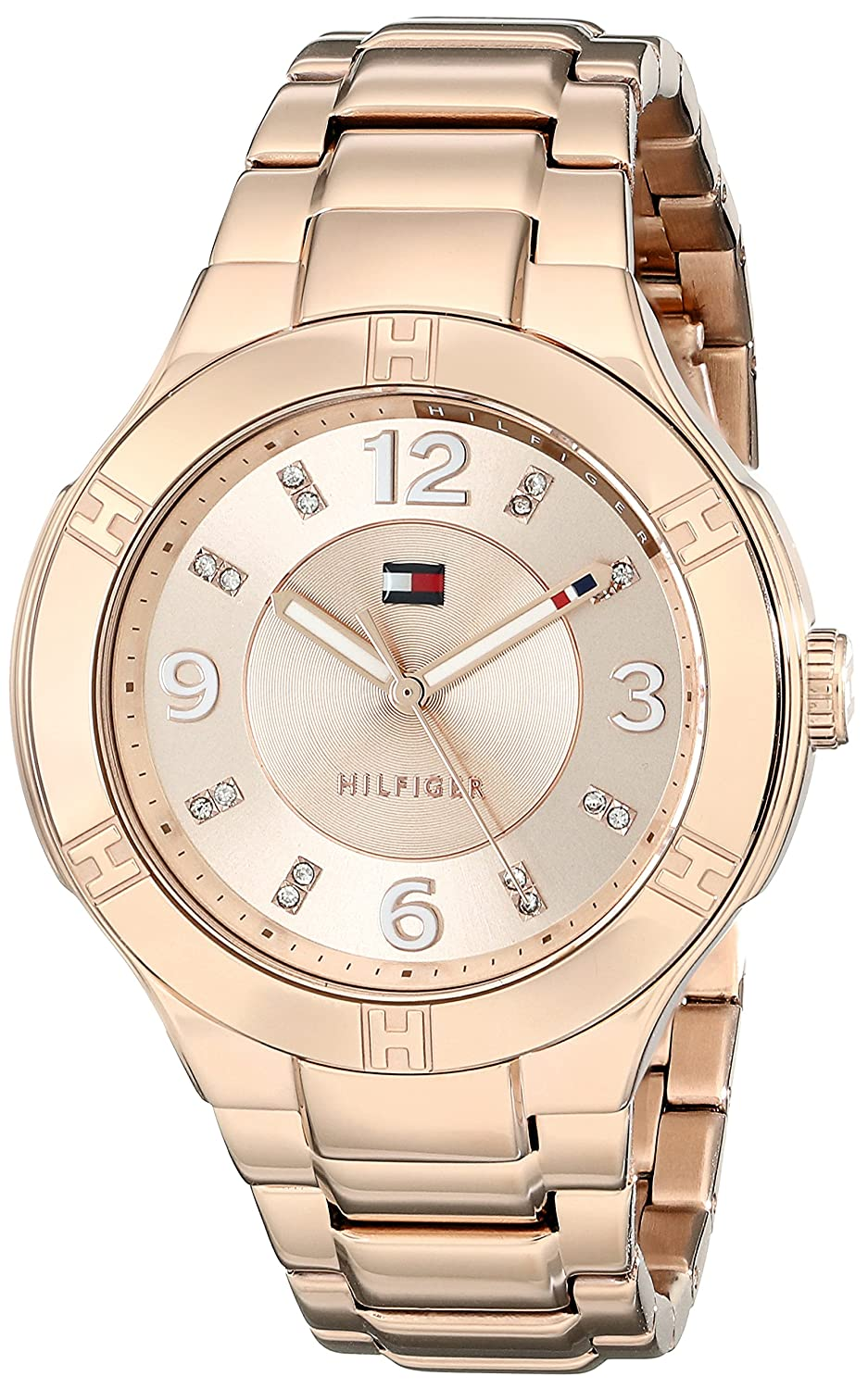 Amazon.com: Tommy Hilfiger Womens 1781445 Analog Display Quartz Rose Gold Watch: Tommy Hilfiger: Watches