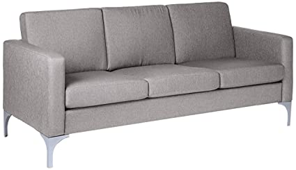 Homelegance 9979GRY 3 Soho 71u0026quot; Upholstered, Light Gray Fabric Sofa