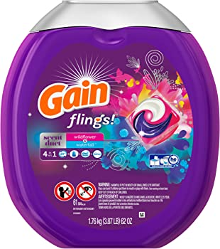 Gain Flings Scent Duets Laundry Detergent Pacs 61 Count