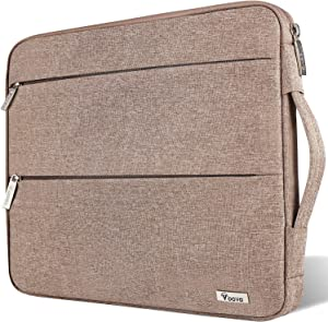 Voova 11.6-12 Inch Laptop Sleeve Case Cover, Water Resistant Computer Protective Bag Compatible with MacBook Air 11, Mac 12, Surface Pro X 7 6 5 4, Samsung Asus Acer Chromebook R11 with Handle, Khaki
