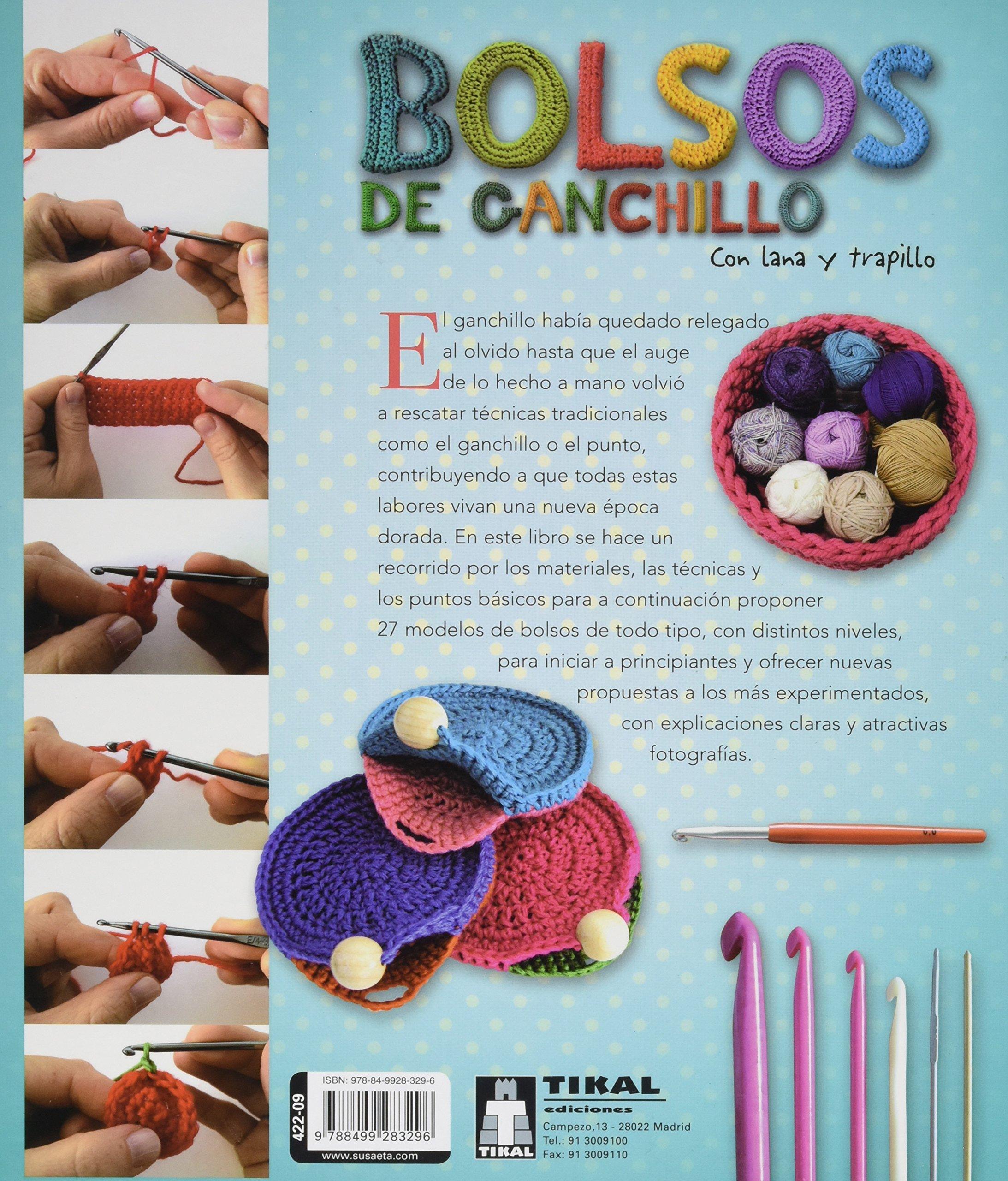 Bolsos de ganchillo con lana y trapillo Taller de ...