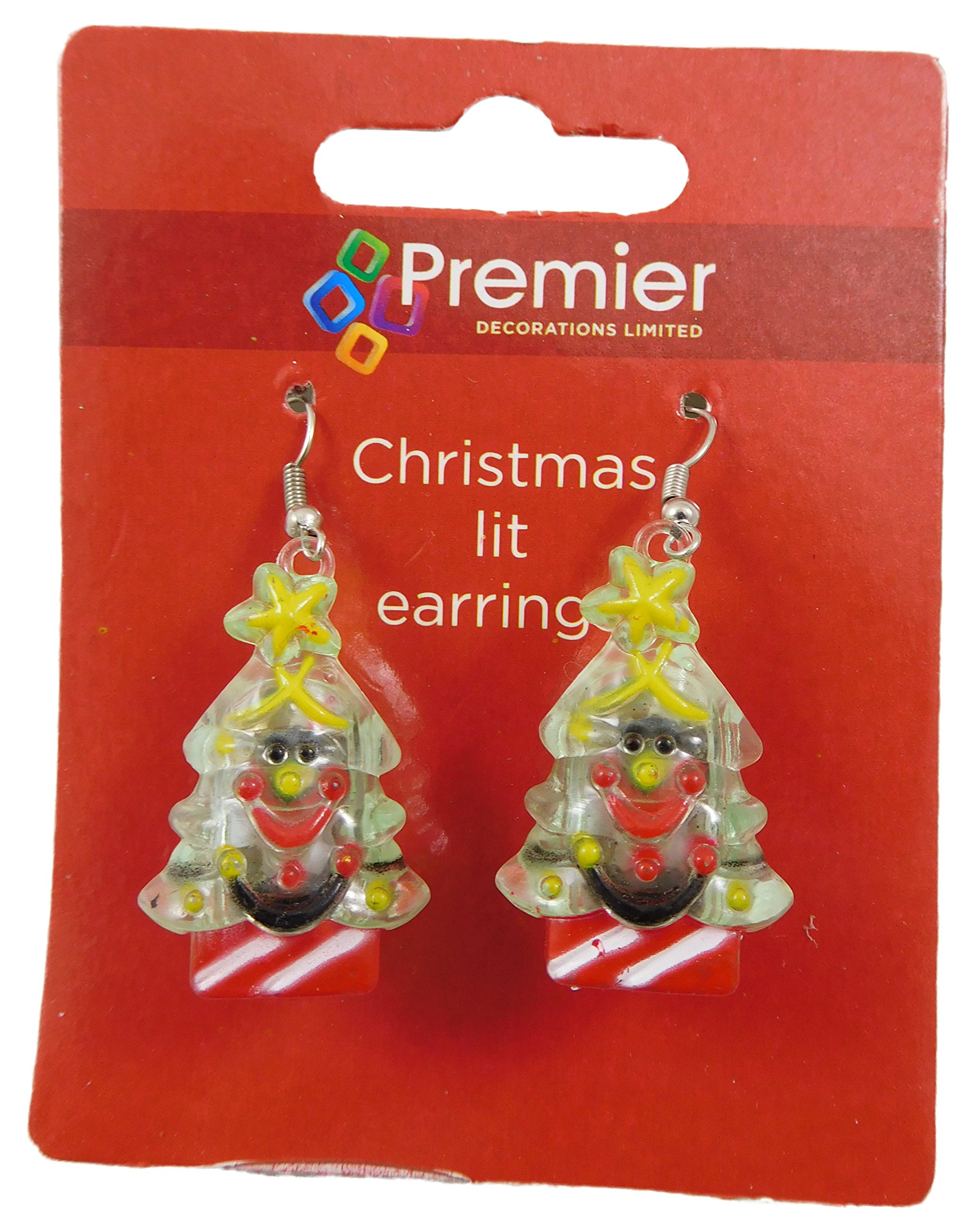 1 Pack Of Light Up Christmas Tree Earrings - Christmas Accessories