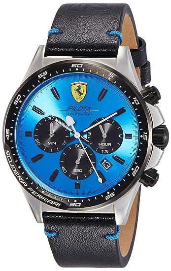 Scuderia Ferrari Reloj Cronógrafo para Hombre de Cuarzo con Correa en Cuero 830388: Amazon.es: Relojes