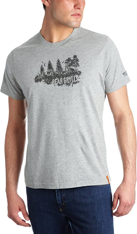 Craghoppers Mens Bear Grylls GRAPHIC Printed T-shirt in Black ALL SIZES
