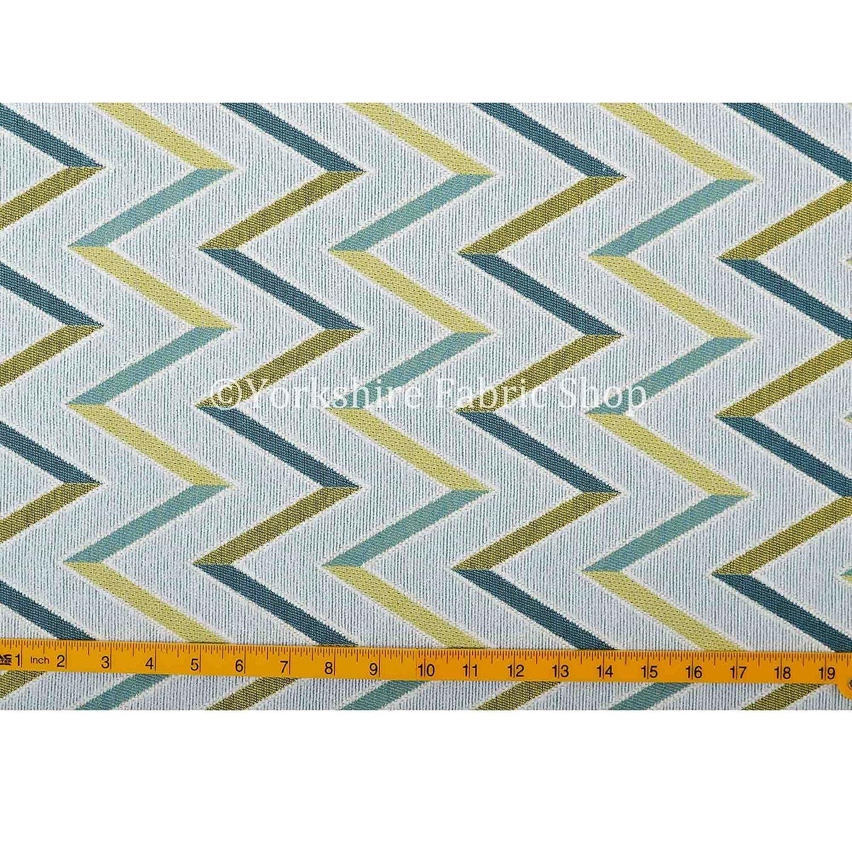 Yorkshire Fabric Shop Exclusiva Tela Blanco Verde patrón de ...