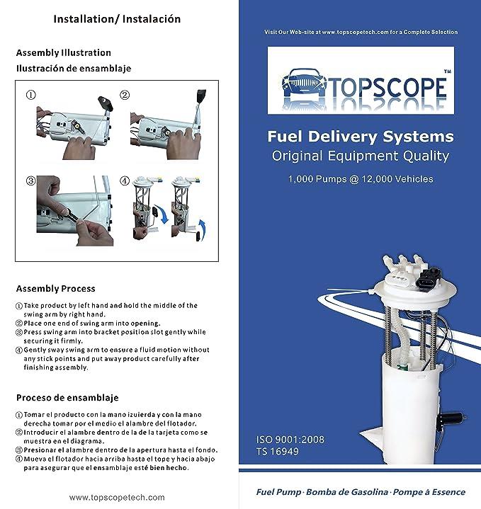 Amazon.com: TOPSCOPE FP3920M - Fuel Pump Module Assembly E3920M fits 1996 CHEVROLET S10 4.3L-V6, 1996 GMC SONOMA 4.3L-V6: Automotive