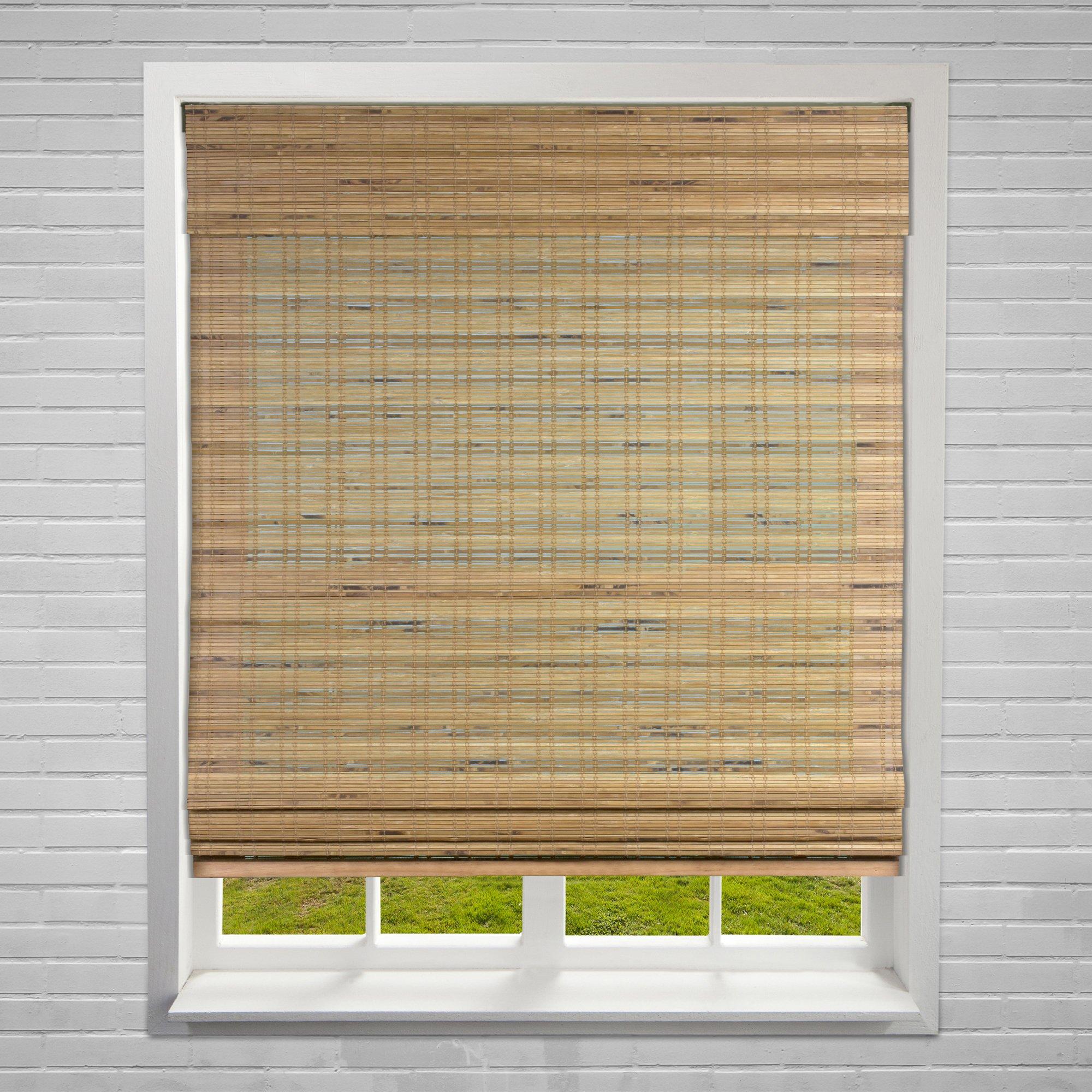Calyx Interiors Bamboo Roman Window Blinds Shades, 28'' W x 60'' H, Cordless Dali Tuscan by Calyx Interiors