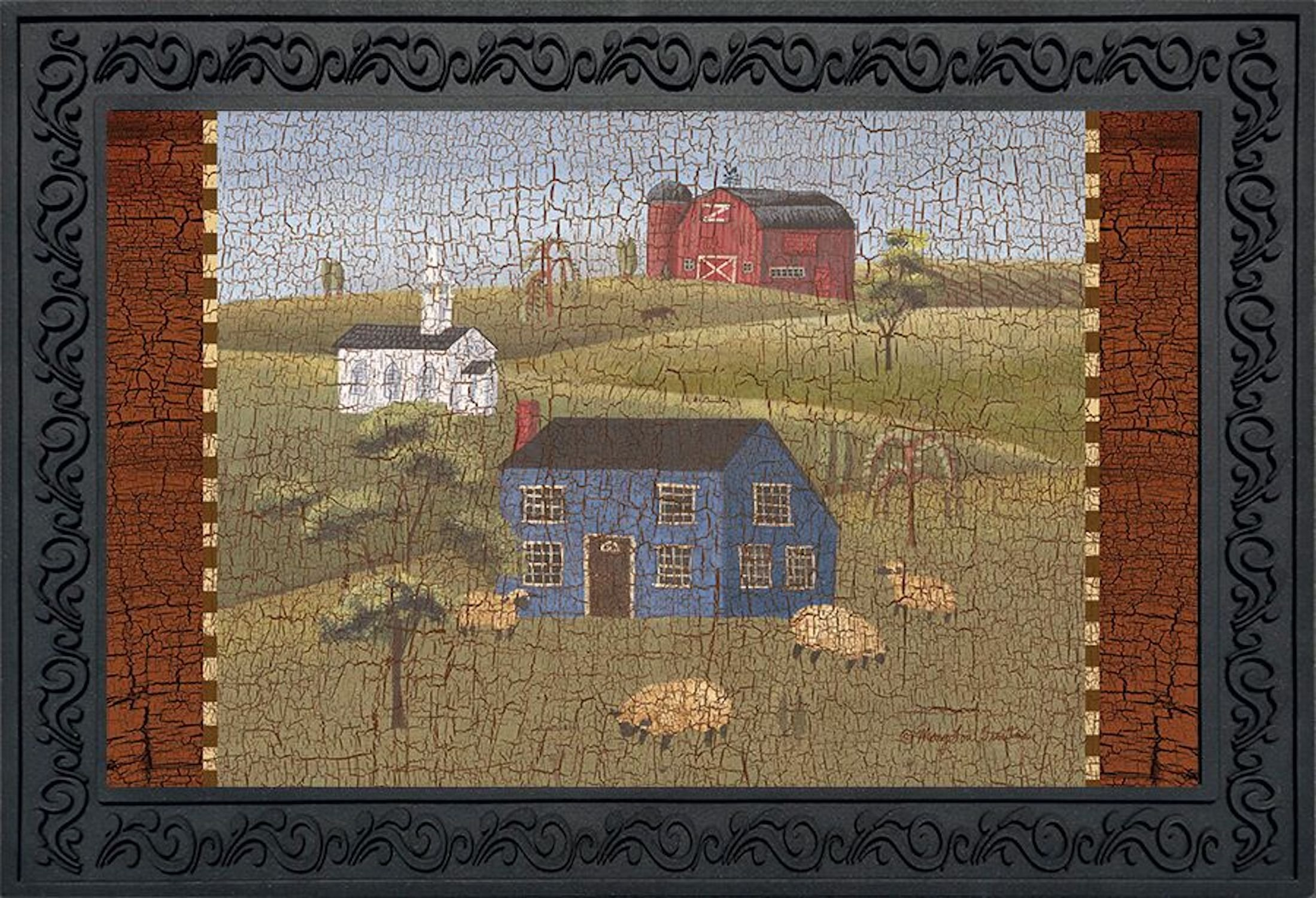 Briarwood Lane Faith Family Friends Primitive Doormat Indoor Outdoor Everyday Sheep 18'' x 30'' by Briarwood Lane