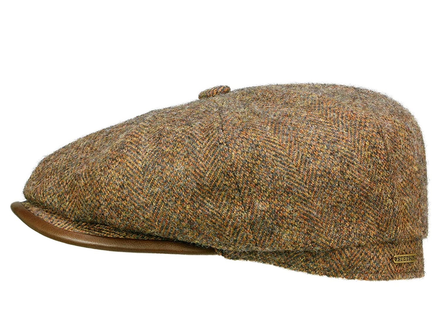 50ff12cdc51299 Stetson Hats Hatteras Virgin Wool Newsboy Cap With Earlaps - Brown 63:  Amazon.co.uk: Clothing