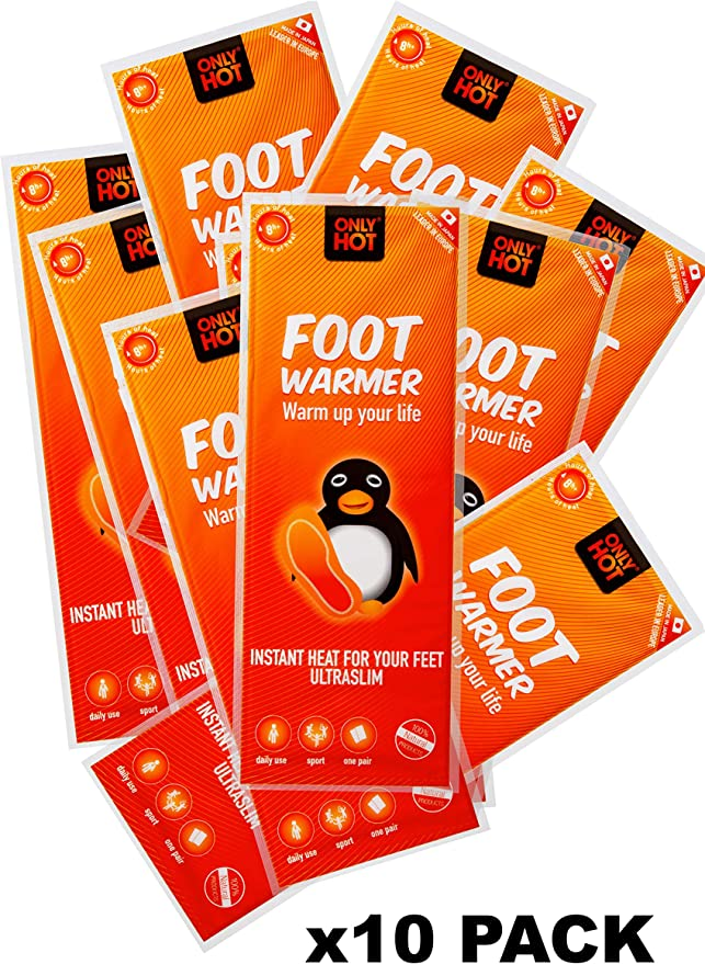 Only Hot Foot Warmer x10 Unica Unisex Adulto Bianco