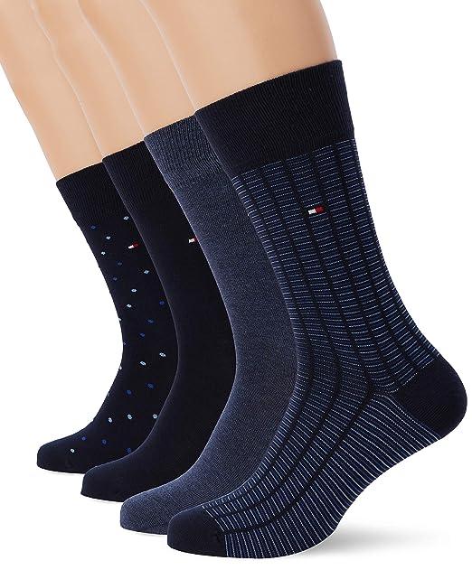 9f2945822e018 Tommy Hilfiger Calcetines para Hombre, (Pack de 4): Amazon.es: Ropa y  accesorios