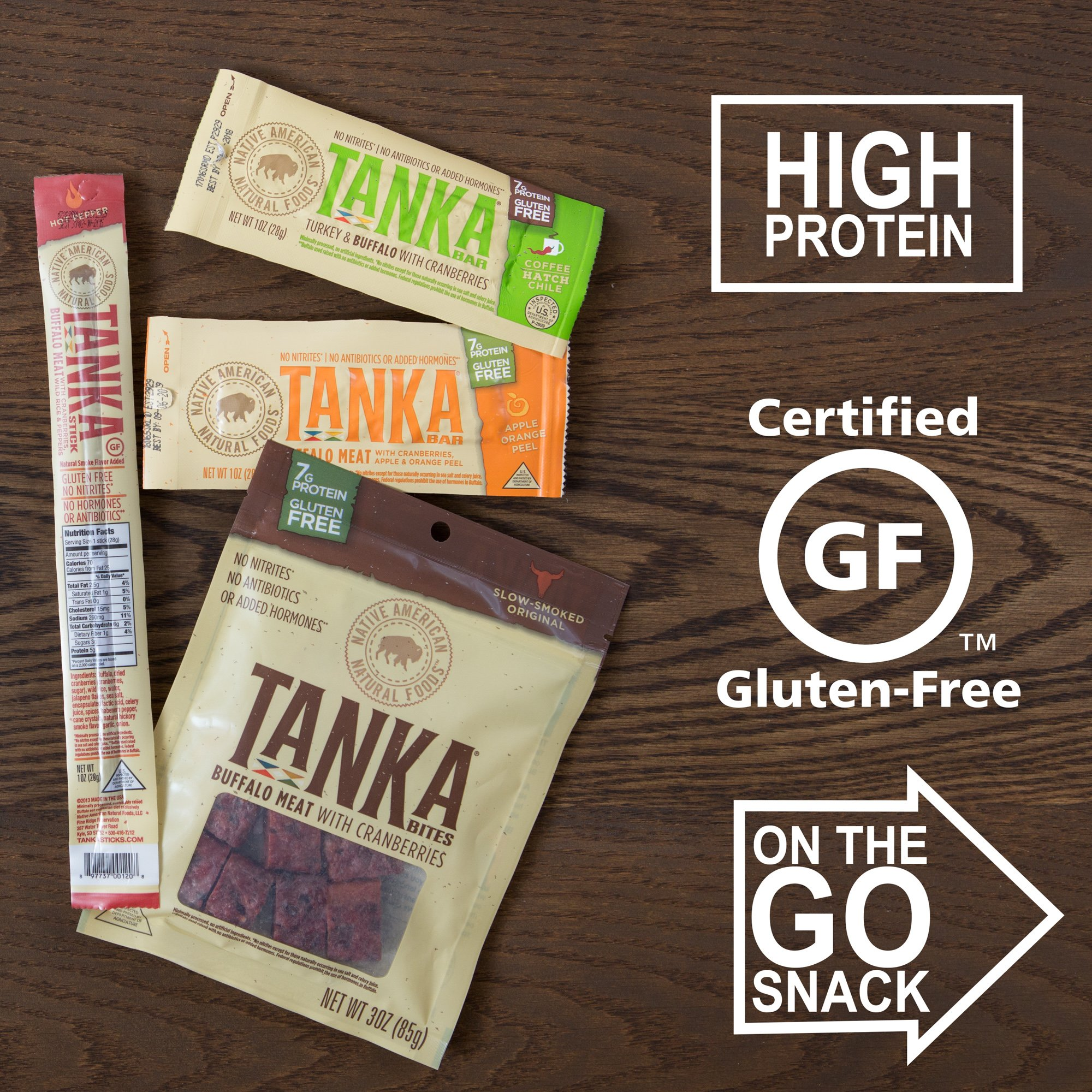 Bison Pemmican Meat Bar with Buffalo and Cranberries by Tanka, Gluten Free, Beef Jerky Alternative, Slow Smoked Original, 2 Ounce Bar, Pack of 12 by Tanka (Image #11)