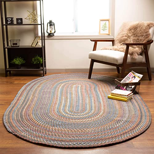Super Area Rugs Tribeca Premium Wool Braided Rug