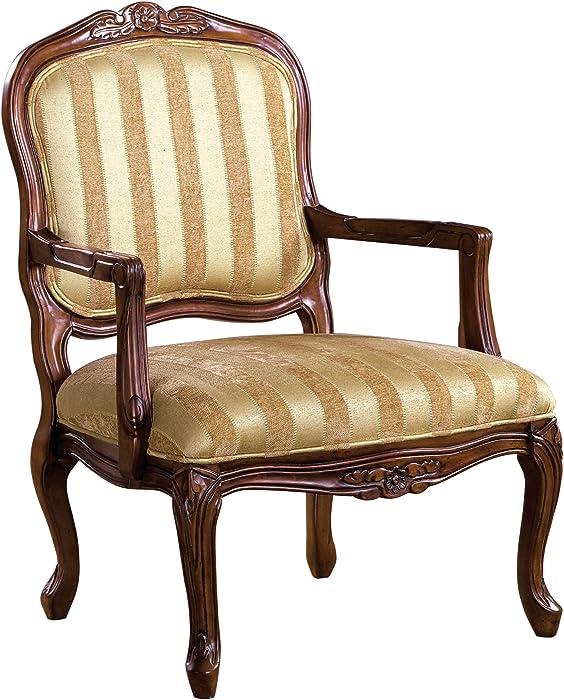 Furniture of America Solimar Arm Chair, Antique Oak