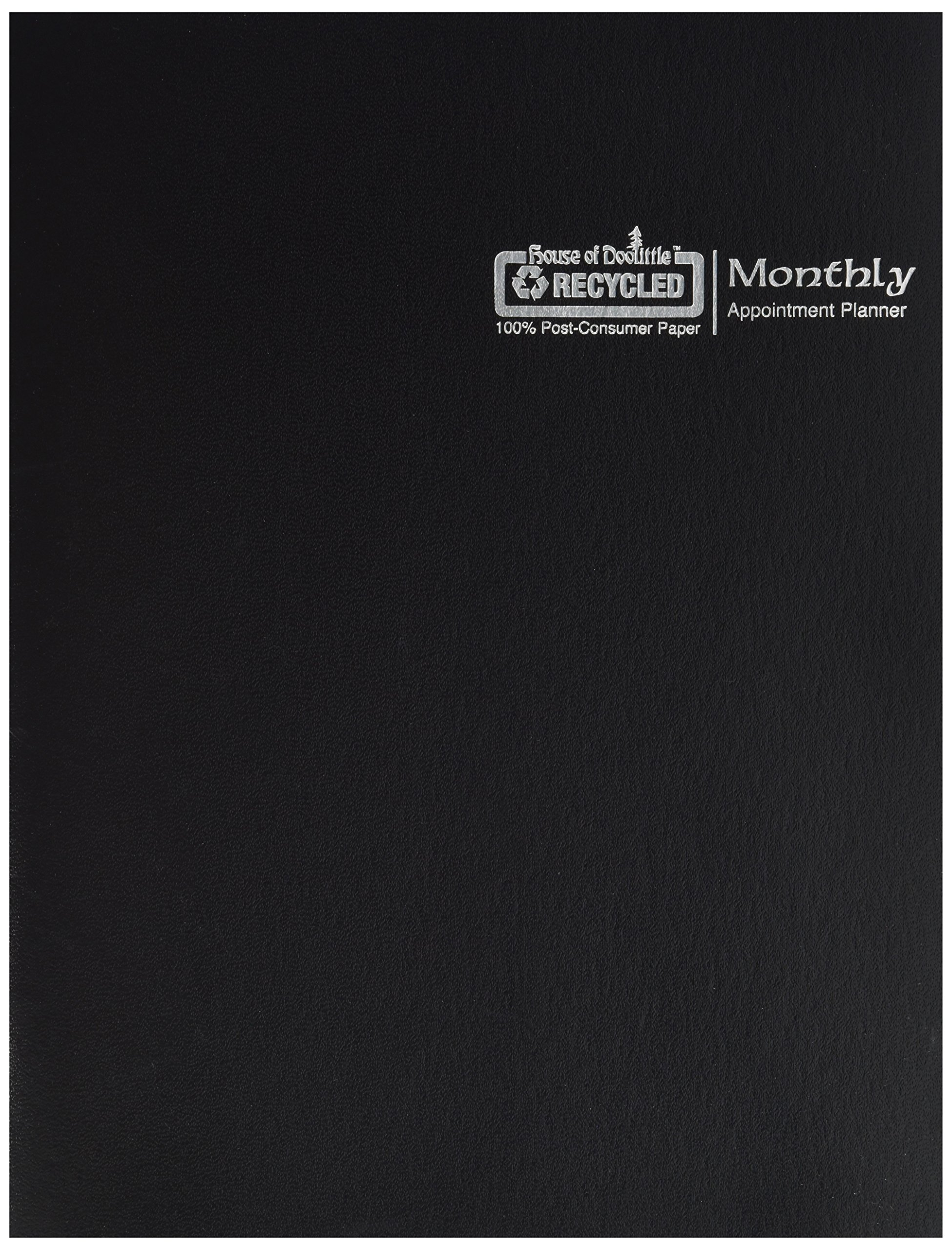 House of Doolittle 2019 Economy Calendar Planner, Monthly, Black Cover, 8.5 x 11 Inches, December - January (HOD26002-19)