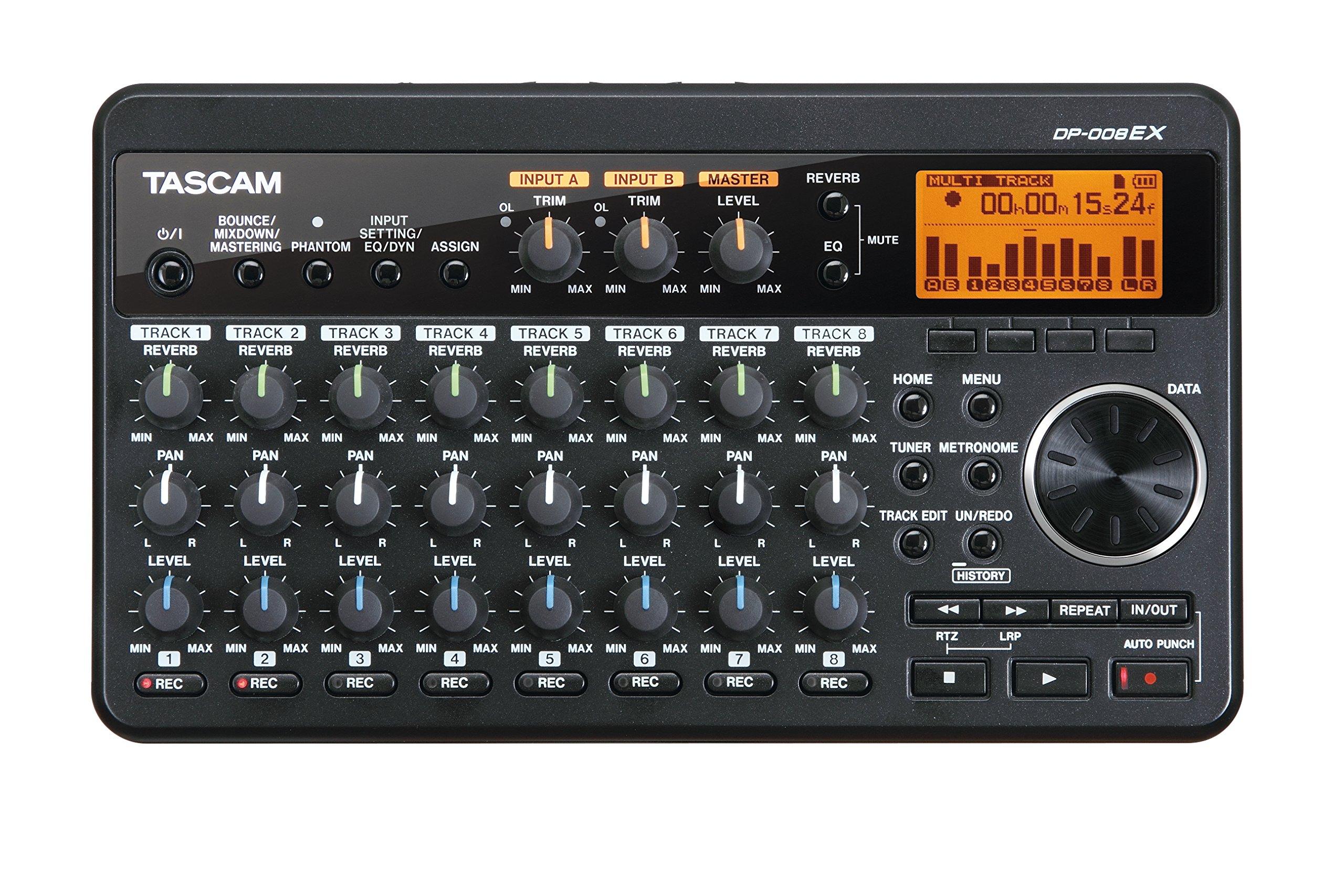 Tascam DP-008EX Digital Portastudio Multitrack Recorder