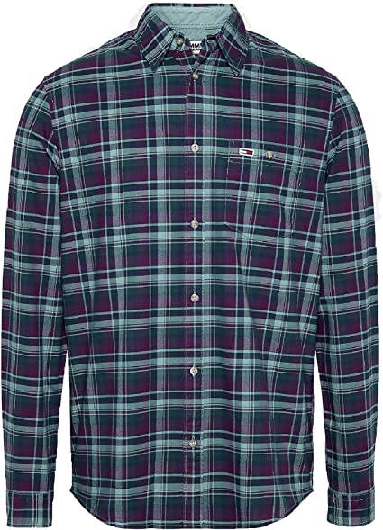 Tommy Hilfiger TJM Overdyed Oxford Check Shirt Camisa para Hombre: Amazon.es: Ropa y accesorios