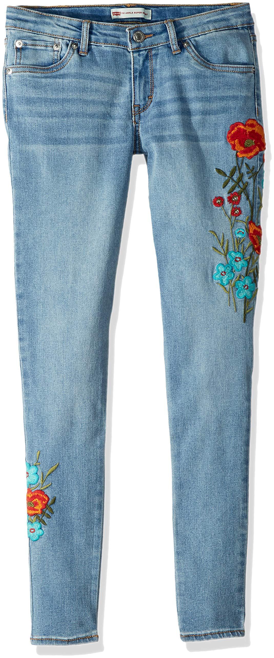 Levi's Girls' Big 710 Super Skinny Fit Jeans, Wavy