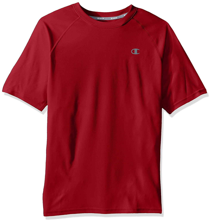 Champion SHIRT メンズ B01NBI2WYT  Carmine Red Large