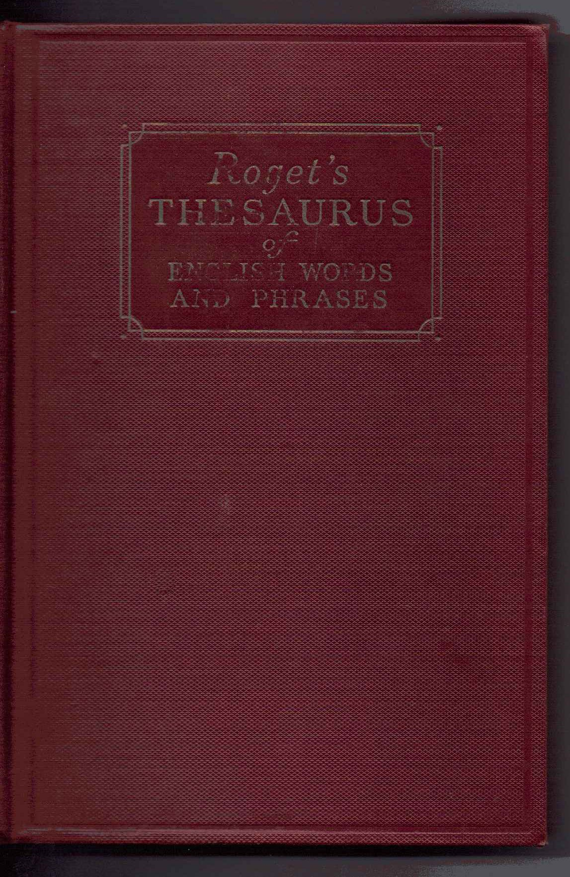 Roget's Thesaurus of English Words and Phrases: Peter Mark Roget:  Amazon.com: Books