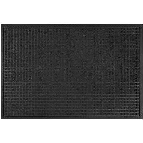 LARGE Alpine Neighbor Block Door Mat | Washable Indoor/Outdoor Low Profile  Doormat | Rubber