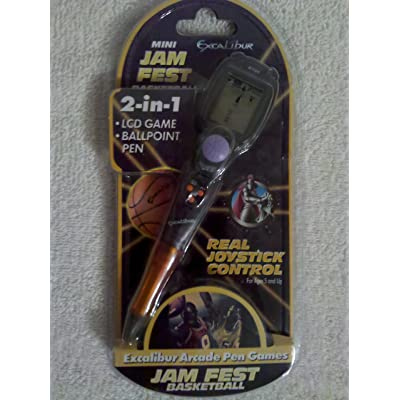Excalibur Mini Jam Fest Basketball 2-in-1 LCD Game and Ballpoint Pen: Toys & Games
