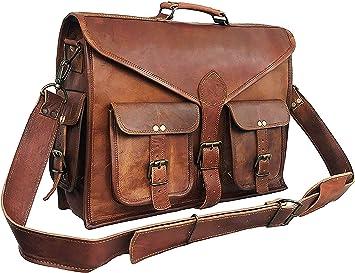 Briefcase Vintage passionate Leather Messenger Satchel Laptop Shoulder Men Bag