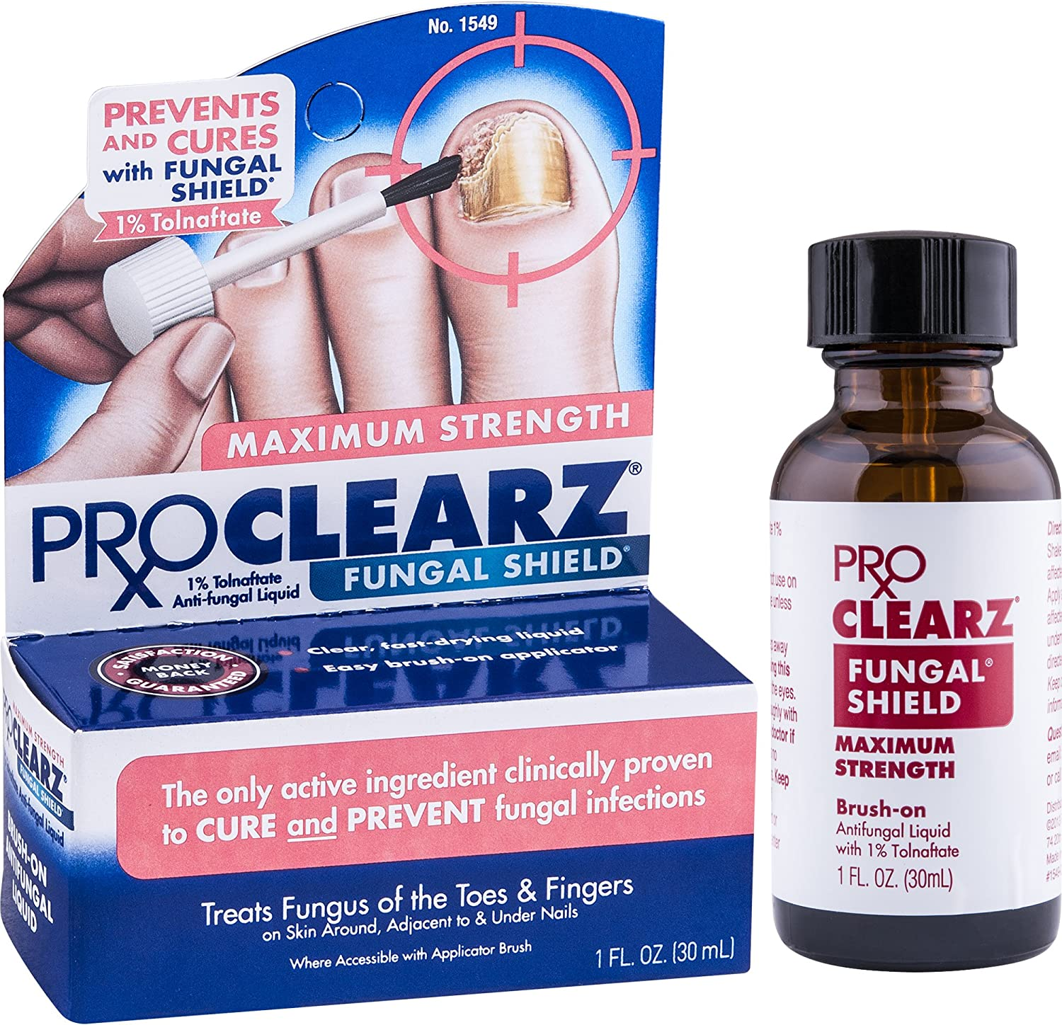 ProClearz Fungal Shield Maximum Strength Antifungal Liquid, 1 Ounce Bottle (Pack of 2)
