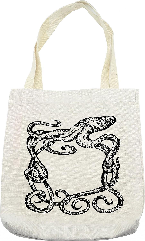 Colorful octopus sea creature psychedelic ocean beach bag Tote bag