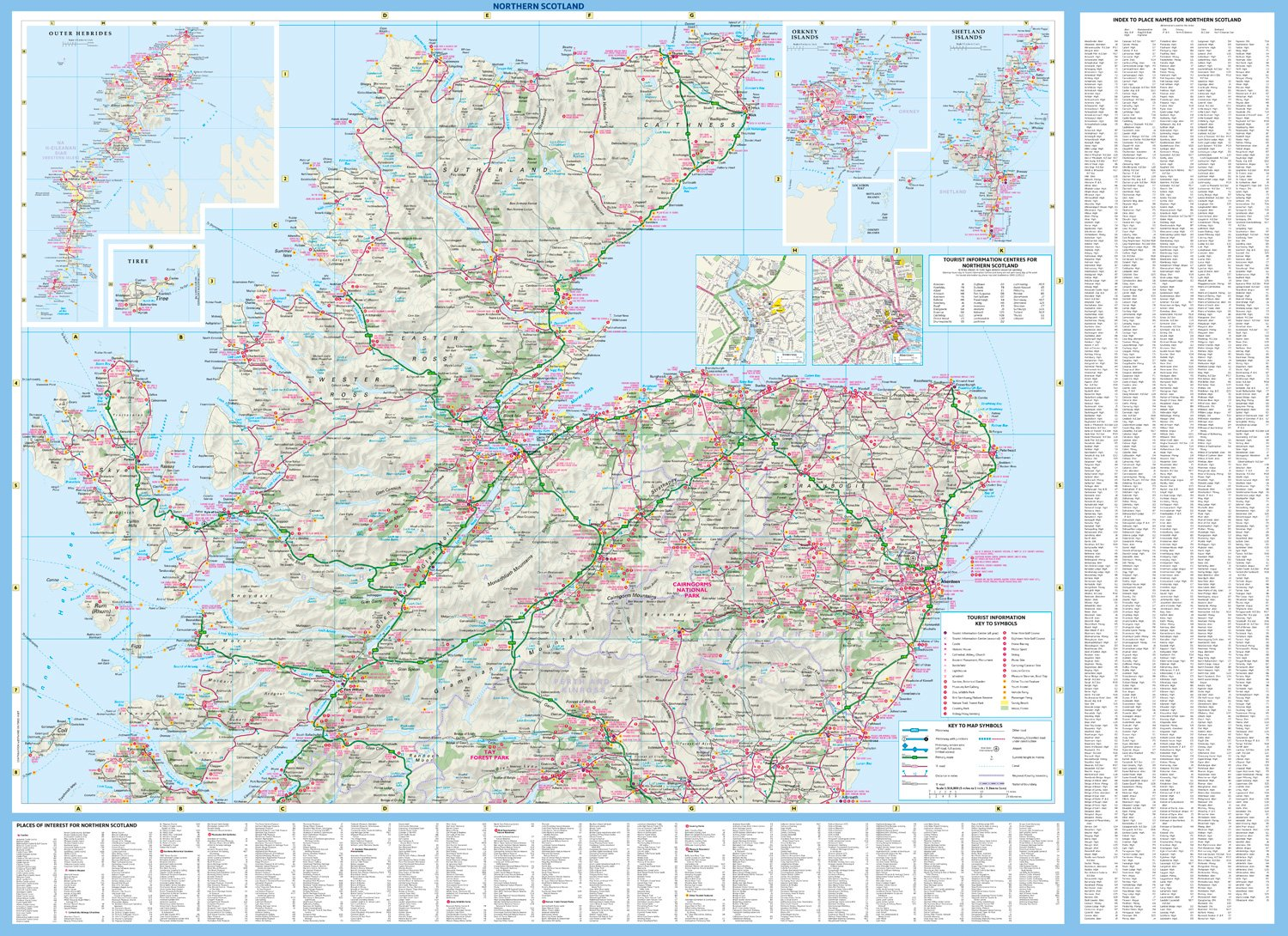 Scotland Touring Map: Amazon.co.uk: Collins Maps: 9780008158521: Books