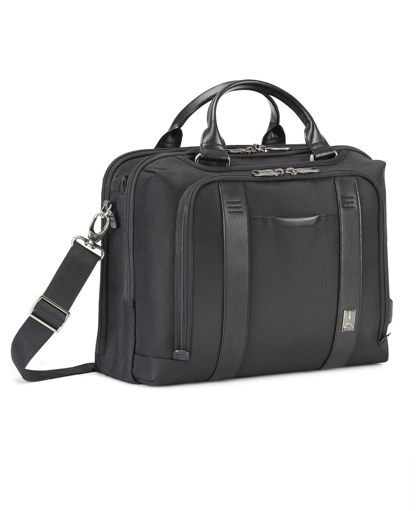 Travelpro Crew Executive Choice 2 Pilot Under-Seat Brief Bag, 16-in with USB port
